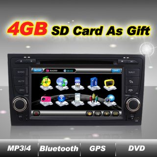Double Din Car DVD Player GPS Navigation Radio TV Touch Screen For