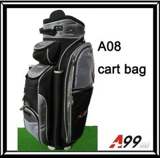 A08 14way full length Individual divider golf cart bag black grey