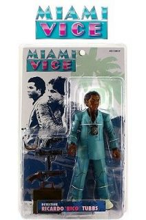 Mezco Miami Vice Ricardo Rico Tubbs Action Figure Teal Suit New