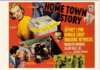 Home Town Story Marilyn Monroe Movie • Postcard
