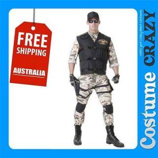 SEAL TEAM ARMY COMMANDO WAR ADULT MENS FANCY DRESS HALLOWEEN COMBAT