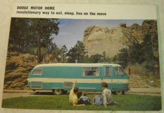 Dodge 1963 Motor Home RV Sales Brochure