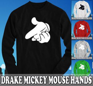 Drake Dope Mickey Mouse Hands Longsleeve   YMCMB YOLO T Shirt   OVOXO