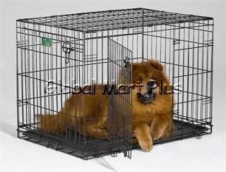 Dog Crate~Folding Wire Cage~Double Door~Divider~H ouse Training~L~36
