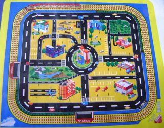 NEW GIANT CITY ROAD MAP PLASTIC WIPE CLEAN VEHICLE PLAYMAT PLAY MAT
