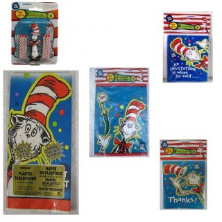 Dr. Seuss CAT in the HAT Party Supplies ~ Create your own SET w/ FREE
