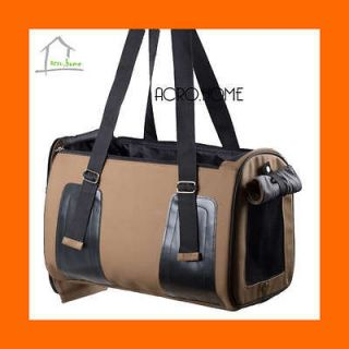 18 Pet Dog Cat Travel Bag Carrier Crate Faux Leather Purse Carrier