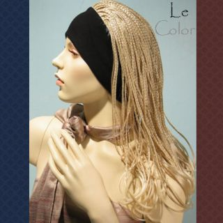 Janet Z Micro Braids Headband Hair Wig Carnival Cosplay Party Light