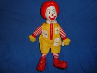 Ronald Mcdonald 1997 Plush W/Pvc Head 12 Doll