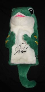 Geico Golf Club Cover * Joe Durant Signed Gecko * Plush