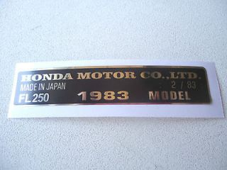 listed HONDA ODYSSEY FL250 FL 250 ATV 1983 FRAME VINYL DECAL STICKER