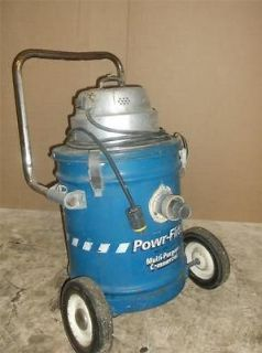 Power Flite PF39 Wet Dry Vac Commercial Portable With Wheels Tested