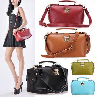 real leather womens bag shoulder bag handbag Tote Hobo doctor purse