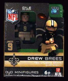 DREW BREES OYO LEGO MINIFIGURE MINIFIG FOOTBALL GEN 1 OYO493