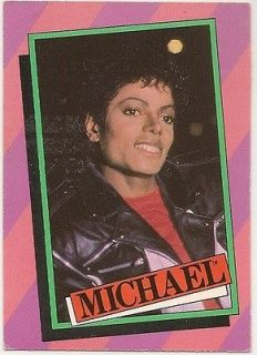 Michael Jackson 1984 Collector Card #4 From Series 1 33