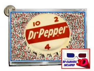 3D Dr. Pepper Soda Pop Bottle Cap 10 4 2 FLOATING IMAGE bank with