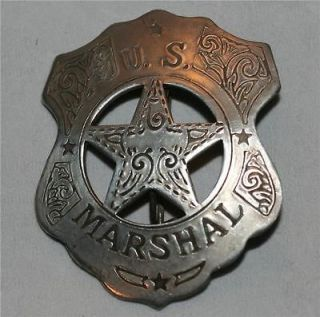 US MARSHAL Arizona Gunsmoke Tombstone OLD WEST WESTERN BADGE Vintage