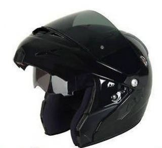 VN Flip Front Motorcycle Helmet DVS Gloss Black XL Scooter Quad Cheap