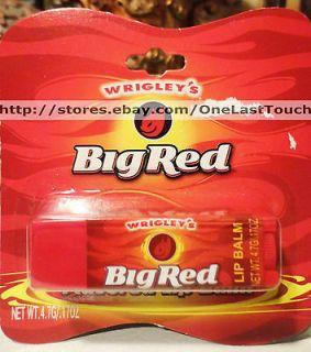 Lotta Luv~WRIGLEYS Lip Balm/Gloss BIG RED Gum Flavored~(card ed)