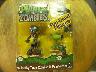 NEW Plants vs Zombies DUCKY TUBE & PEASHOOTER Fun Dead Action Figures