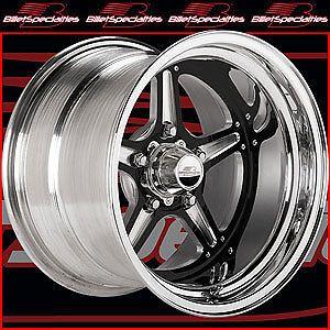Billet Specialties BRS035106535 Street Lite Black Race Wheel Size 15