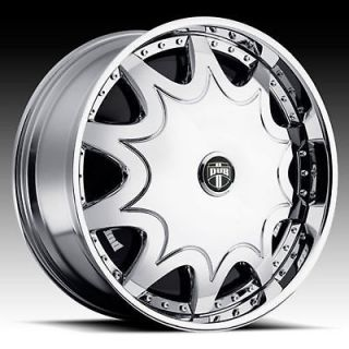 24 DUB STASHOLA SPINNER CHROME WHEEL SET