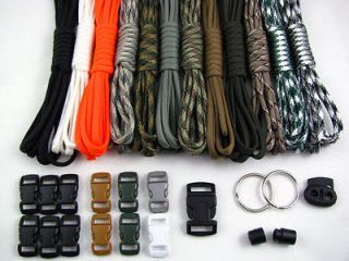 USA Made 550 Paracord Survival Bracelet Making Kit 120 Feet 12 colors