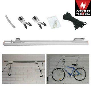 Neiko Aluminum Rail Ceiling Mounted Hanging Bicycle Bike Storage Rack