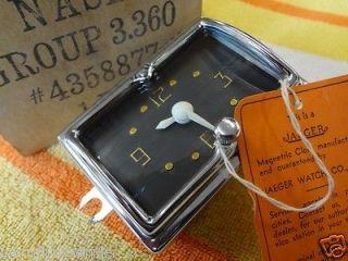 SPECTACULAR NOS OEM Kaiser Nash Healey Ambassador Dash Glove Box Clock