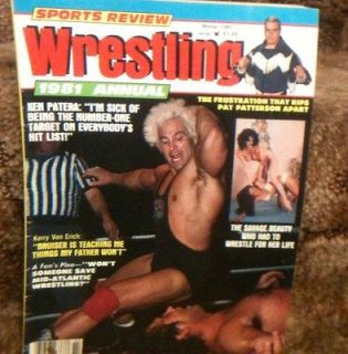 Sports Review Wrestling Magazine Winter 1981 Ken Patera Womens