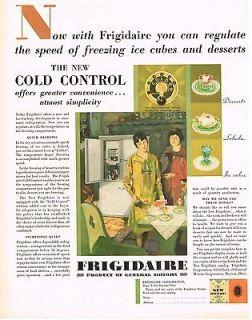 Frigidaire Electric Fridge Edwin B Henry Kitchen Art Deco Print AD