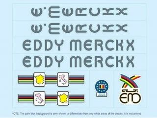 Eddy Merckx Bicycle Decals Transfe rs Stickers #9
