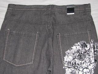 KARL KANI GOLD New Mens Grey Jeans Choose Size NWT