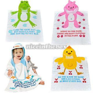 N98B New Soft Baby Kid Child Hoodie Bathrobe bath Towel Washcloths