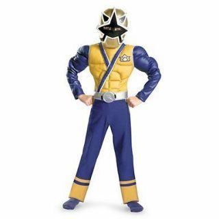 Rangers Samurai Super Samurai Gold Ranger Muscle Costume Size 6 S New