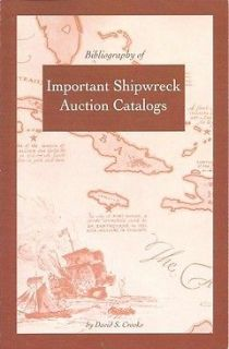 Sunken Treasure Books by Dave Crooks   important ref. for shipwreck