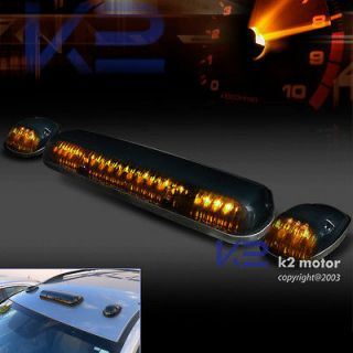 SMOKE ROOF TOP CAB TRUCK SUV VANS LIGHT MARKER LAMPS 3PCS SET+WIRING