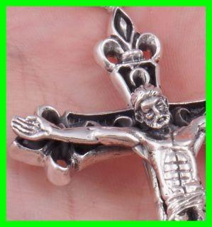 HUGE HEAVY CELTIC CROSS CRUCIFIX JESUS SAINT 925 STERLING SOLID SILVER