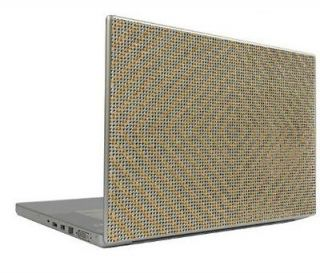 Silver on Gold 13.3 Crystal Rhinestone Bling Laptop Sheet Cover Skin