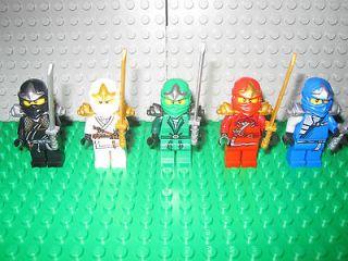 LEGO NINJAGO MINIFIGURES ZX LLOYD, COLE, ZANE, KAI, JAY 9553 9554 9561
