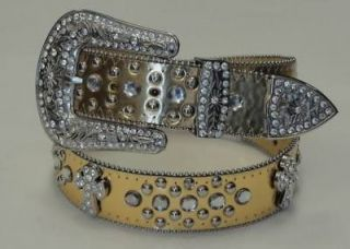 Cowgirl bling Rhinestone Religious Cross Belts wholesale 50121 Gold