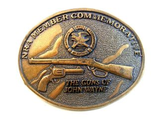 NRA Member Commemorative The Guns of John Wayne Belt Buckle