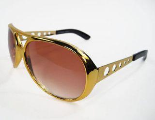 CLASSIC Elvis Sunglasses Sun Glasses Las Vegas Costume GOLD