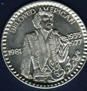 Newly listed ELVIS PRESLEY Rare Beloved American Tribute Silver Tone