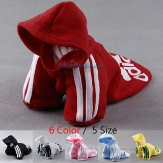 Pet Puppy Dog Cat Coat Clothes Hoodie Sweater T Shirt Costumes Size S