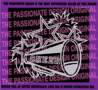 cheer decal cheerleader woman girl football sports dance pom megaphone