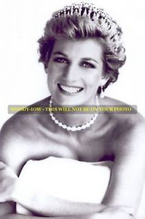 mm571   Princess Diana wears Queen Mary tiara   photo 6x4