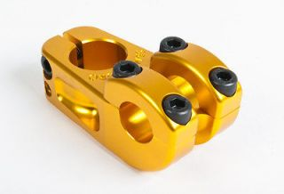 BIKES RACE ENDURO 52 MM STEM GOLD BMX BIKE NECK FIT 52MM LIGHT