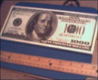 Lot of 100 LARGE BIG MONEY $1000 Dollar Bills