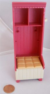 Fisher Price Loving Family Dollhouse Red Laundry Room Storage Cabinet